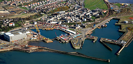 Aerial view of Port of Burntisland