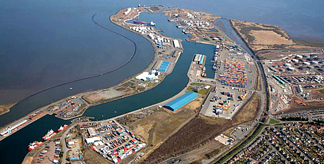 Aerial view of Port of Grangemouth